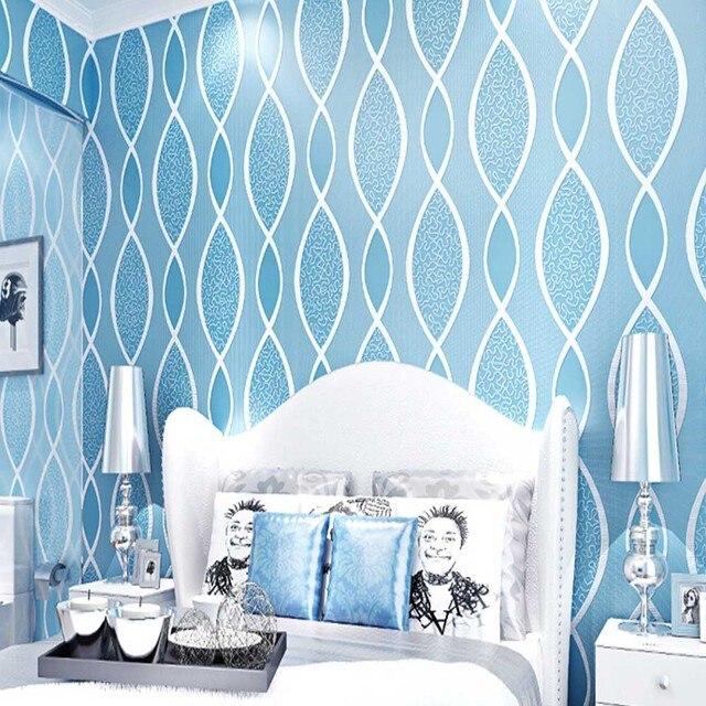 3D Abstrakte Tapeten Streifen Tapete Blauen Wand ...