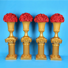 European Style Gold Out Artificial Roman Columns Plastic Pillars Road Cited Wedding Props Event Decoration Supplies 2 Pcs/lot