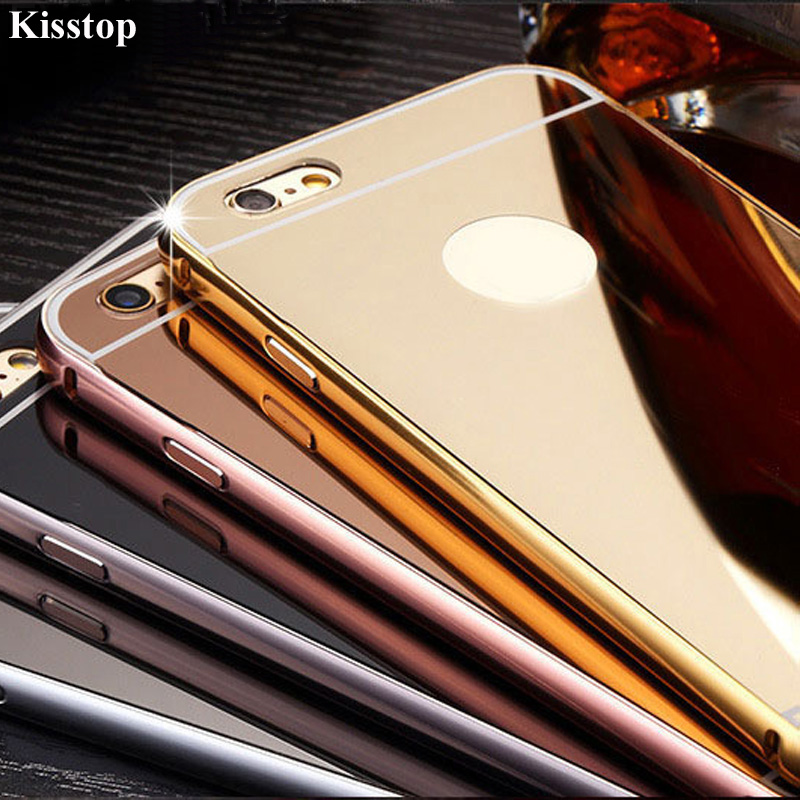 Detail Feedback Questions about Kisstop Rose Gold Mirror Aluminum Phone Case  For iPhone 6 6S 7 8 X Metal Phone Case Back Cover Capa For iPhone 5 5s SE  on ... cce3ea390e