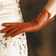 KLSS Brand Genuine Leather Women Gloves High Quality Goatskin Gloves 30cm Long Elegant Lady Sheepskin Glove Hot Trend K31L
