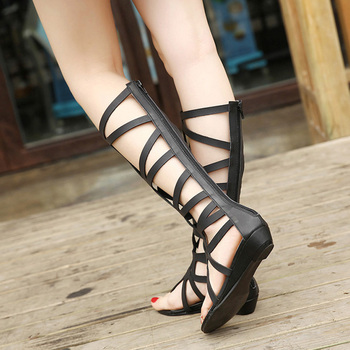 Summer Style Knee High Sandals Shoes Woman 2018 Fashion Women Boots Sandal Shoes Woman Sexy Summer Women Shoes Gladiator Sandals 6