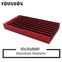10Pcs YOUNUON Wholesale  60x30x8mm BTC USB ASIC Cooling Heatsink RED Bitfury Aluminum Radiator