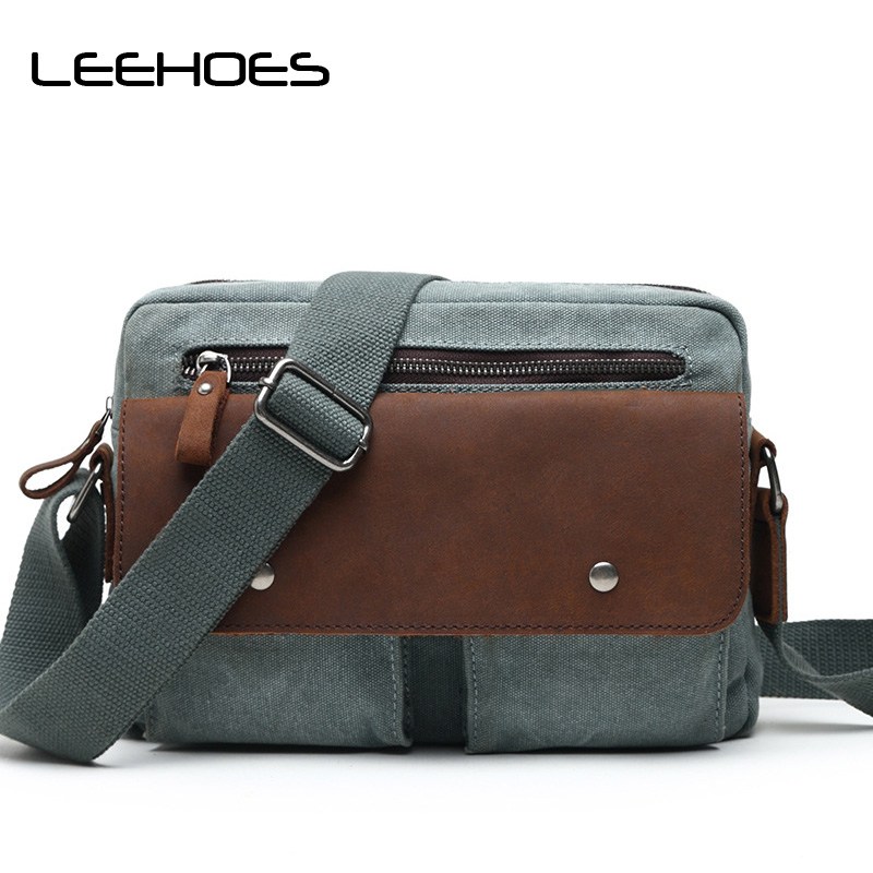 Small Bags Designer Cowhide Leather Messenger Bag New Canvas Bags Work Travel Outing Business Crossbody Shoulder Bag Male Bolsa augur new male small canvas crossbody bag multifunction tool functional bag men shoulder designer messenger travel shoulder bags