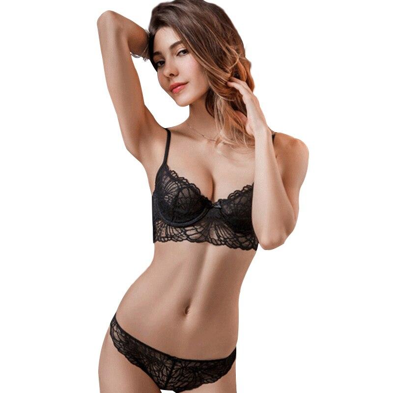 Charm Sexy 34 Cup Deep V Transparent Bras Girls Underwear -3128