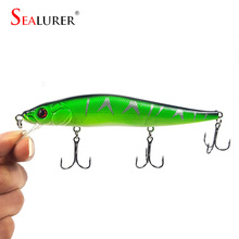 1Pcs 14cm 23.7g Fishing Lure wobblers Minnow Hard Bait with 3 Fishing Hooks iscas artificiais para pesca fishing tackle WQ8