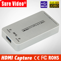 1080P 60fps UVC Free Driver HDMI Video Capture Card / Grabber USB Support USB3.0 / USB2.0 Capture HDMI For Linux, Windows, OS X