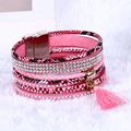 2016 Newest Fashion Sell Hot Charm bracelets weaving Multilayer Leather Bracelets Women gift Bracelet