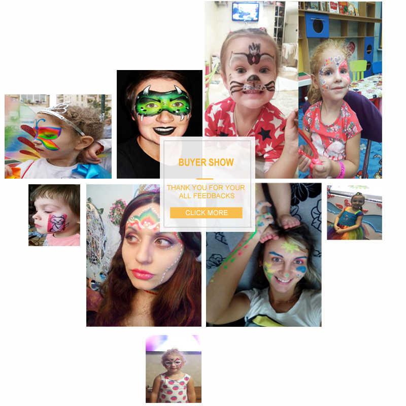 DiYeah สีหน้า maquillage 30 กรัมแต่งหน้าฮาโลวีน schmink รงควัตถุ Art ชุด Marker เดี่ยว maquiagem ภาพวาดสีแดง