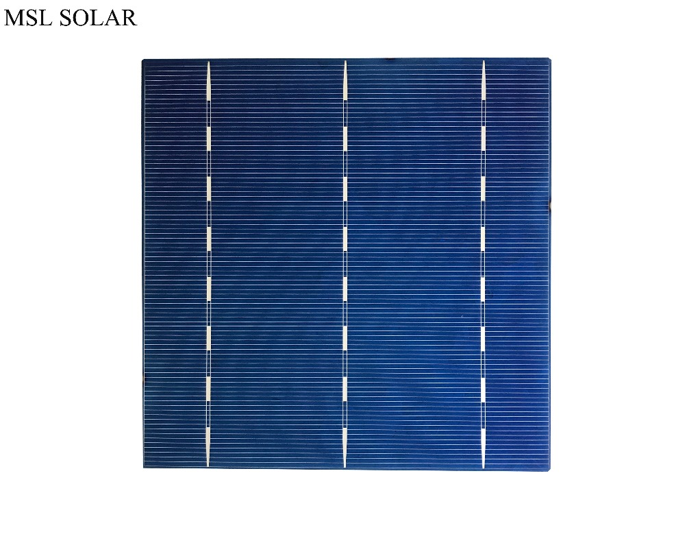 MSL SOLAR Solar cells 17% Effiencicy Polycrystalline 4.1W. 6x6 A grade Poly solar panel cell for make solar panel 100pcs/Lot