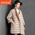 Fashion Women Trench Coat 2016 New Winter and Autumn Overcoat Lady Long Coats Plaid Windbreaker Loose Outerwear F117