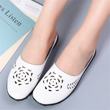Summer new round head hollow half drag pregnant women mother large size sandals womens shoes