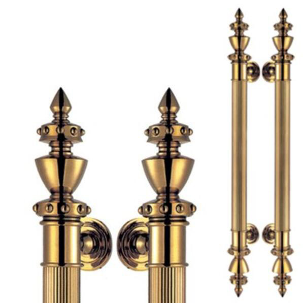European style antique brass Main glass door wood door pull handles gold  color 800mm length in - European Style Antique Brass Main Glass Door Wood Door Pull