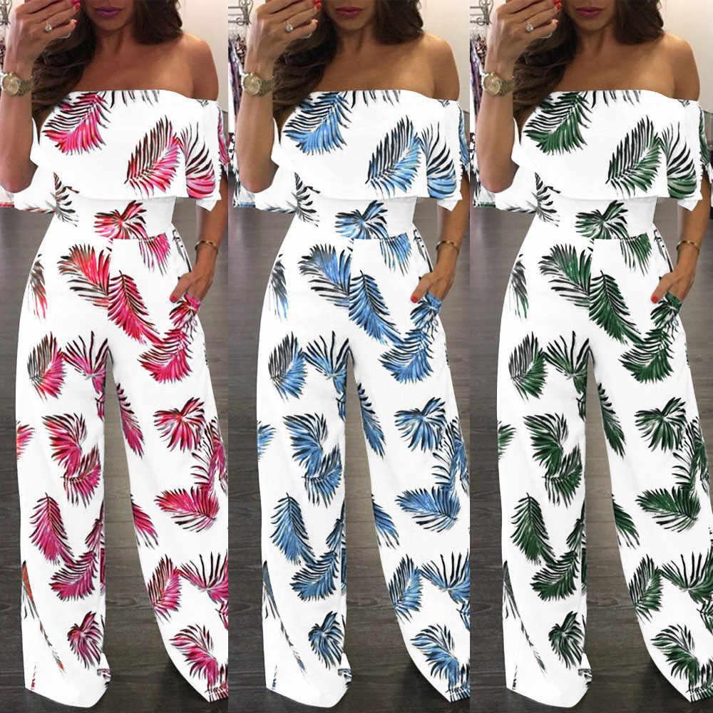 Для женщин Повседневное с открытыми плечами с цветочным принтом; мягкая и удобная обувь с узорами листьев к требованиям заказчика; сверкающие; без застёжки, пончо Свободный комбинезон L50/0203