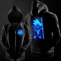 Dragon Ball Z Son Goku Cosplay Costume Luminous zipper master school boys Hoodie Jacket Coat
