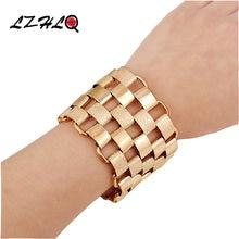 Lzhlq модный панк широкий браслет на запястье ювелирные изделия