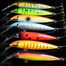 7Pcs/Lot Big Lip Minnow Fish Fishing Lures Lifelike Artificial Hard Baits Crankbait Wobblers Pesca Isca Tackle For Sea Fishing цена 2017