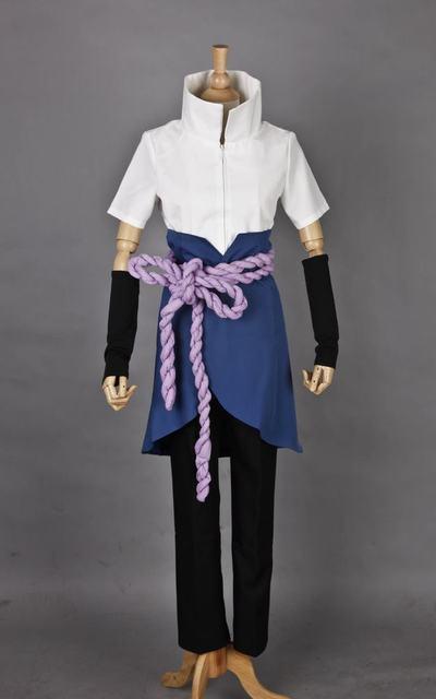 Naruto Uchiha Sasuke Cosplay Costume Full Set Custom size costumes Anime SasuNaru Goodness costumes