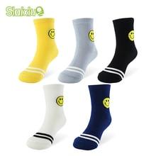 5 пара/лот, зимние хлопковые детские носки теплые детские носки с рисунками животных для мальчиков и девочек 5 цветов для От 1 до 10 лет