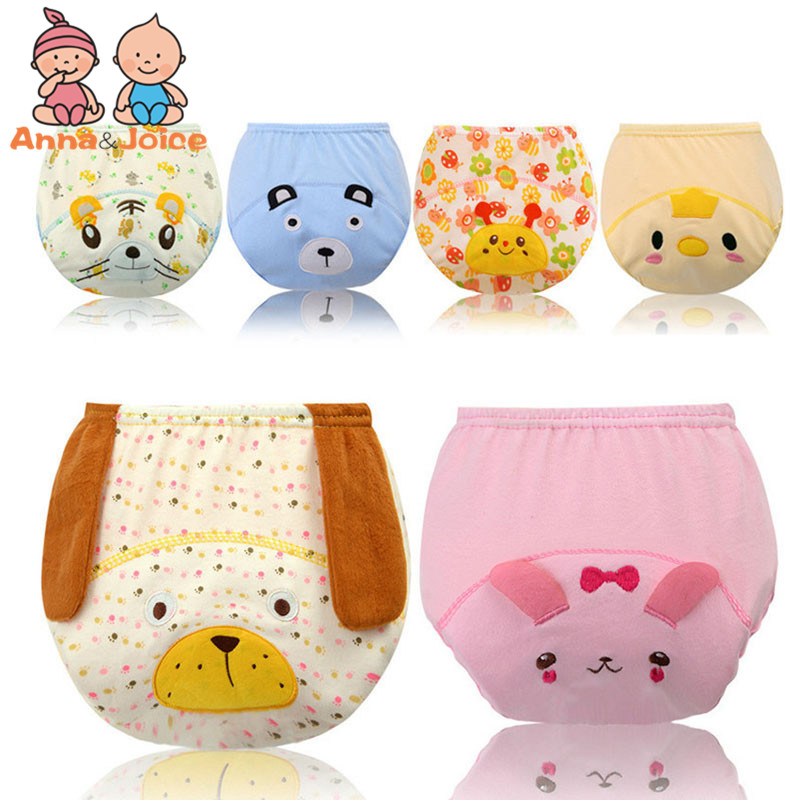 18Pcs/Lot Baby Cotton  Panties Kids Infant Newborns Cute Cartoon Urinate Training Pants For Children Underpants