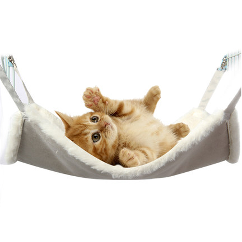 Obedient Cat Lounger Cat Hammock Bed Mount Window Cat Lounger Suction Cups Warm Bed For Pet Cat Rest House Soft Comfortable Bed Cat Supplies
