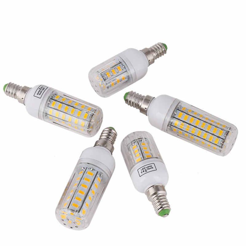 E27 e14 ledランプ5730 smdトウモロコシランプ電球220ボルト24 30 42 64 80 leds 7ワット12ワット15ワット20ワット25ワットランパーダアンプルシャンデリア照明