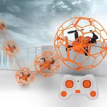 Мини Drone Вьетнамки RC мяч Sky Walker 2,4 ГГц 4CH лету мяч RC Quadcopter 3D флип ролик Безголовый Drone RC вертолет игрушки
