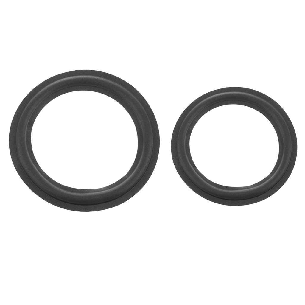 Динамик сабвуфер Поролоновый край сменный динамик Ремонтный комплект 10 дюймов + 12 дюймов черный