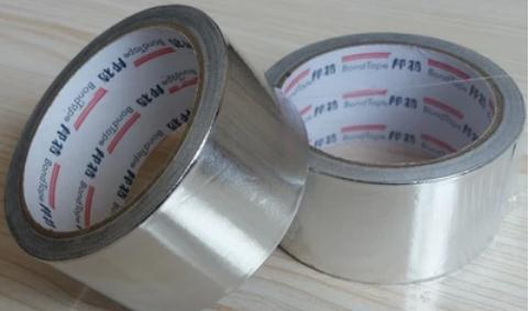 25meters Width 50mm  Thin Aluminum Foil Adhesive Tape,metal Containers Bug Fixes, Metal Conductive Material, Fire-retardant.