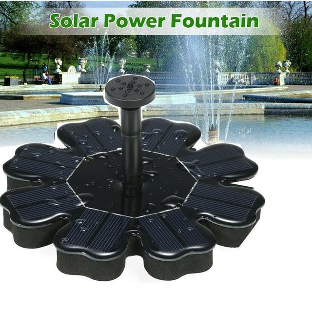 שמש משאבת צף פנל בריכת שמש פרח בצורת סולארי כוח מזרקת גן נוף גן בריכת השקיה ערכת 8V 2.5W