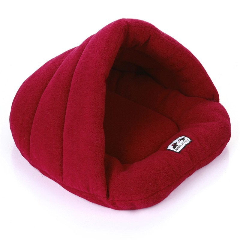 Image 2 - Soft Fleece Winter Warm Pet Dog Bed 4 different size Small Dog Cat Sleeping Bag Puppy Cave Bed Free shipping-in Houses, Kennels & Pens from Home & Garden