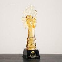 27 см Цветная глазурь высокого класса хрустальный Кубок творческий предприимчивые отличные сотрудники более пользовательские Трофи Trophy