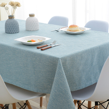 Europe style Cotton Linen Table Cloth Country Style solid Multifunctional table cloth rectangular Cover Home Kitchen Decor
