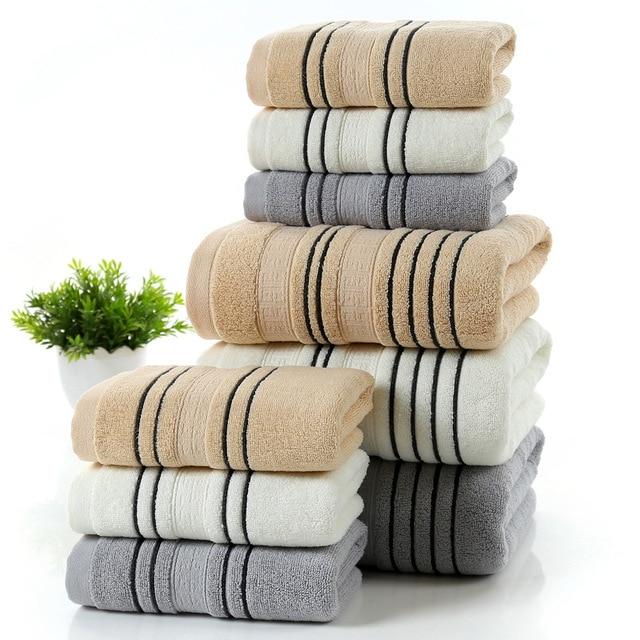 Cotton 70x140cm Bath Towel Set Of 5 White Towels Beach For The