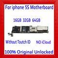 Материнская плата 16 Гб/32 ГБ/64 ГБ для iphone 5S  100% оригинальная разблокированная материнская плата для iphone 5S без сенсорного удостоверения личнос...
