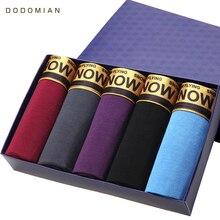 Boxer Shorts pour hommes, sous vêtements en coton, couleur unie, Calecon De Marque, culotte masculine, grande taille, 5 pièces/lot
