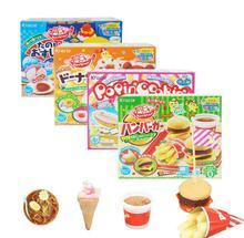 4個日本ポッピン調理ハッピーケーキドーナツハンバーガー、アイスクリームdiy手作りおもちゃのキッチンふりおもちゃ