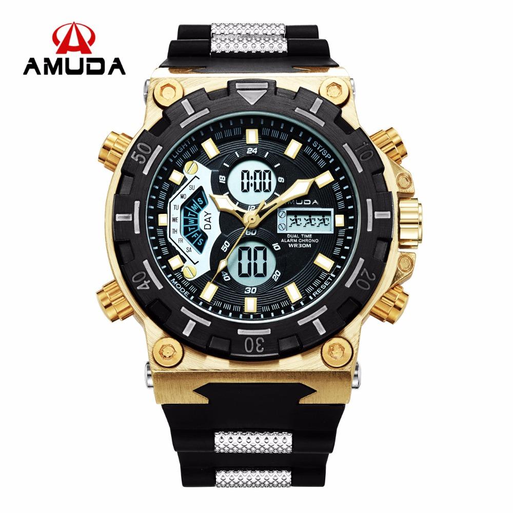 Prix pour 2017 Amuda Hommes bracelet de Quartz De Mode Sport Montre Automatique Date 30 M Étanche Armée Militaire Horloges Relogio Masculino