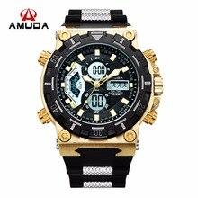 2017 amuda men quartz relógios de pulso moda esporte assista auto data 30 m à prova d' água do exército militar relógios relogio masculino