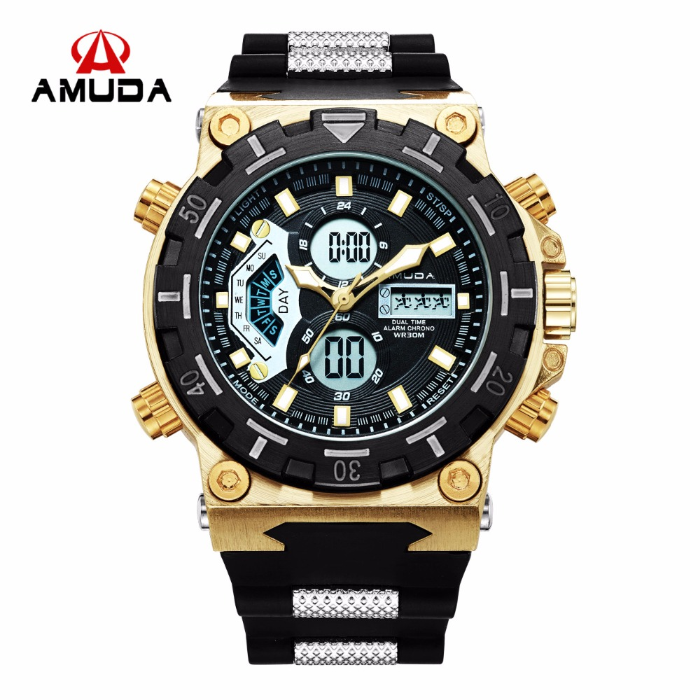 Amuda Men Quartz Wristwatches Fashion Sport Watch Auto Date 30M Waterproof Army Military Clocks Relogio Masculino