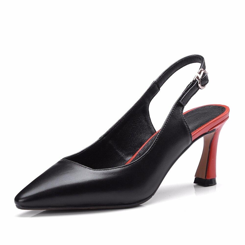 Beige D'été Sandales Cuir Talons Beige Pointu De 2018 Véritable Mode Étrange Chaussures Bout En À Furtado Arden black Printemps Sangle Boucle Pour Femme CqAxg1AwF