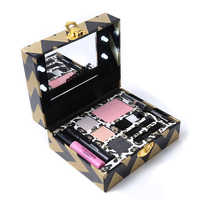 Miss Rose Make Up Gift Box Light Up Travel Makeup Set Eyeshadow Blusher Eyeliner Mascara Eyeliner with Instruction