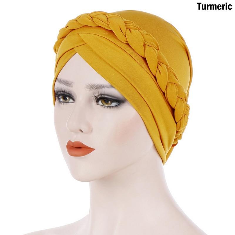 Women Hooded Muslim Hat Bohemian Double Braided Turban Hat India Cap Muslim Hats