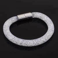 12pcs Wholesale Crystal Magnetic Bracelet Mesh Chain With Full Resin Crystal For Women Gifts