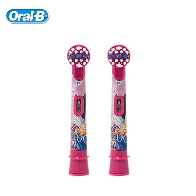 Cepillo de Dientes Eléctrico Jefes Oral B infantil EB10-2K Importado de Alemania de La Princesa/Coches/Mickey (2 UNIDS = 1 Pack) Cabezas de Cepillo de Dientes