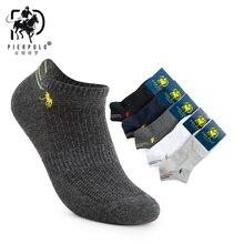 5 пар в партии бренд Pier Polo летние невидимые Для мужчин, носки до лодыжки No Show Повседневное хлопковые носки-тапочки с закрытым носком; короткие мужские носки