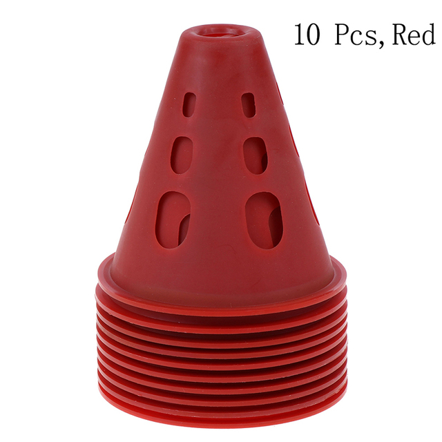 Brand New 10Pcs/Lot Sport Football Soccer Rugby Training Cone Cylinder Outdoor Football Train Obstacles For Roller Skating