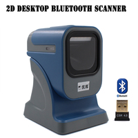 1D/2D/QR Best 2D desktop Omni directional Barcode Scanner Presentation scanner MP6200 USB/RS232 QR Scanner 2D reader