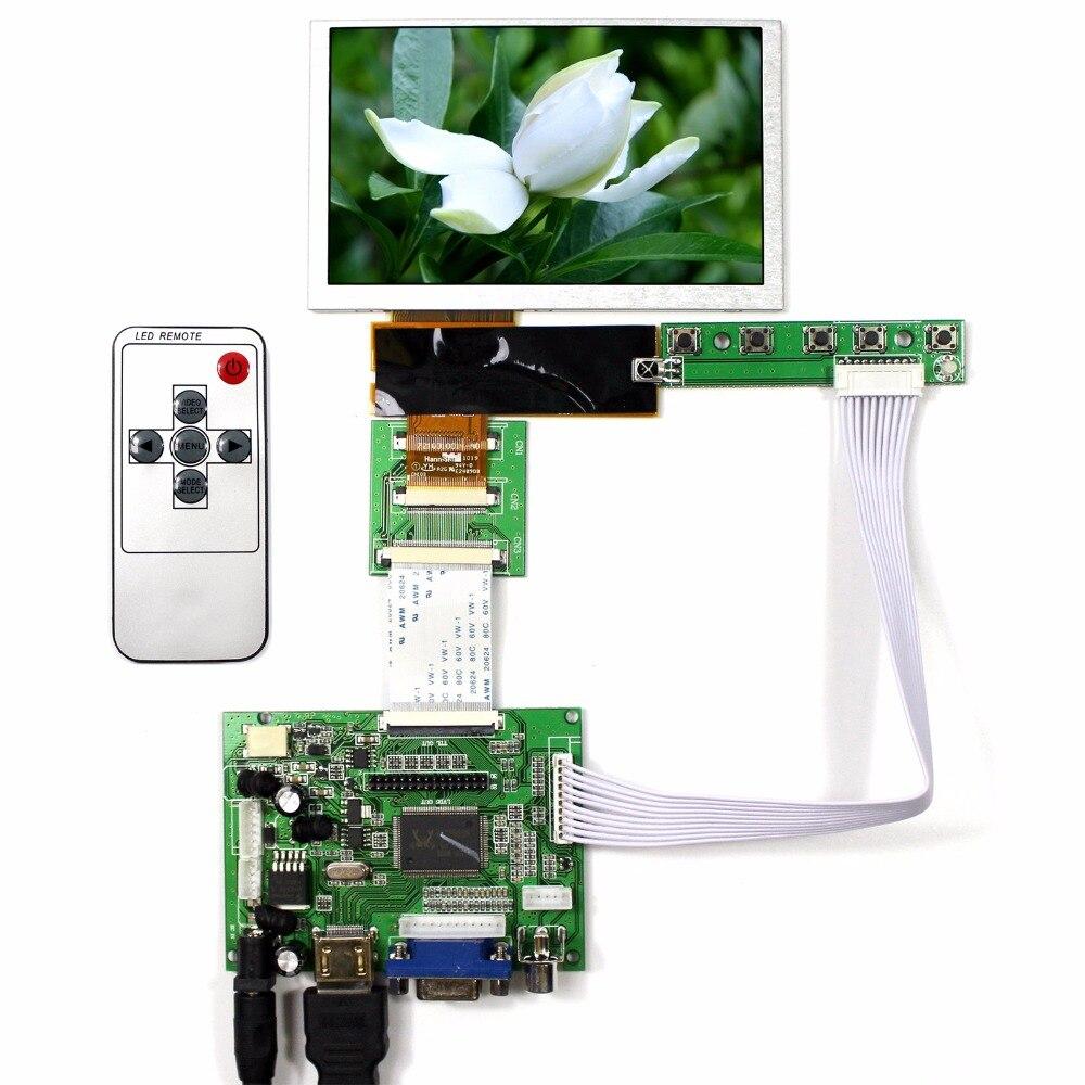 HDMI VGA 2AV LCD Controller Board+5 HSD050IDW1 800x480 LCD Display