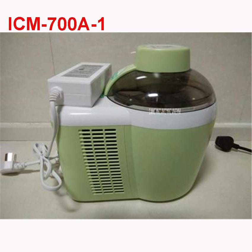 ICM 700A 1 220V/50 Hz High Quality NEW Ice Cream Machine Mini Fruit DIY Ice Cream Automatic Coffee Maker For Children 600ml