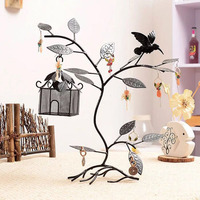 Tree leaf jewelry large Display Stand Porous metal rack Earring chain Eardrop Jewelry Hooks Mount Storage Holder Organizer